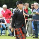 Iona Burns Welcomed as New Drum Major