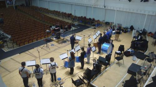 Drum Corps Rehearsing For Commonwealth Games - June 2014