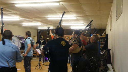 Practice at Band Hall - April 2015